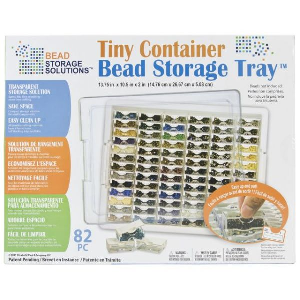 "Elizabeth Ward's Tiny Bead Storage Tray 13.75""X10.5""X2"""