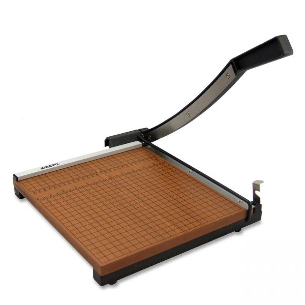 """X-ACTO Wood Base Guillotine 12"""" Paper Cutter"""