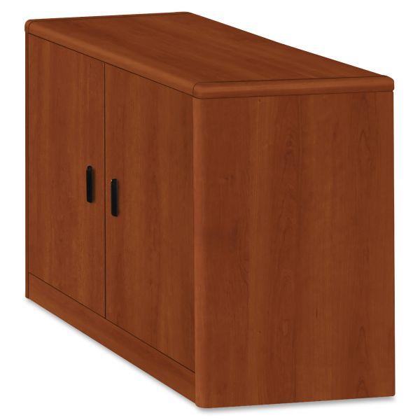 HON 10700 Series Locking Storage Cabinet, 36w x 20d x 29 1/2h, Cognac