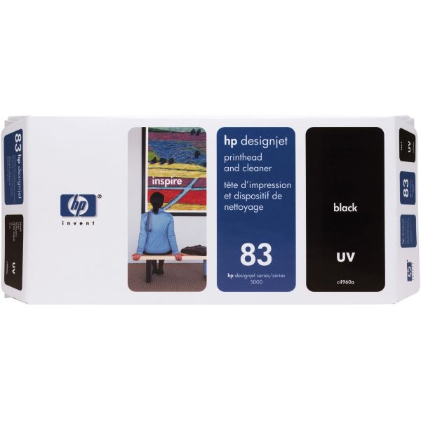 HP 83 UV Black Printhead & Cleaner (C4960A)