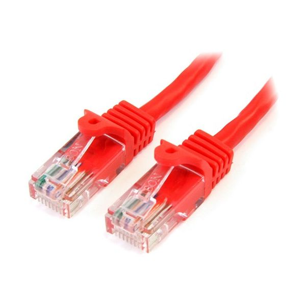 StarTech.com 10 ft Red Cat5e Snagless UTP Patch Cable