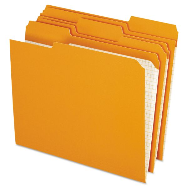 Pendaflex Orange Colored File Folders