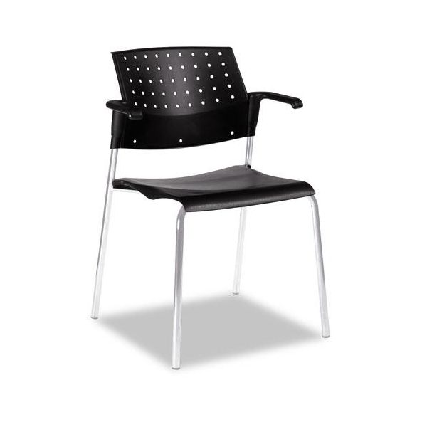 Global Sonic Series Plastic Stacking Chairs with Arms