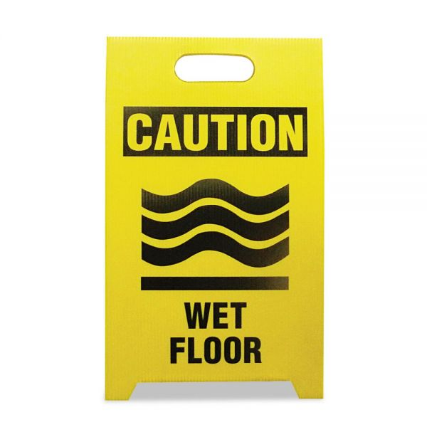 "See All Economy ""Caution Wet Floor"" Sign"