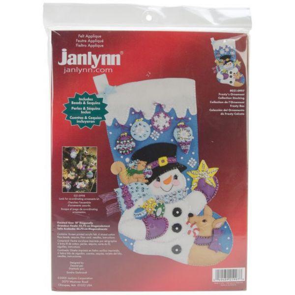 Frosty's Favorite Ornament Stocking Felt Applique Kit