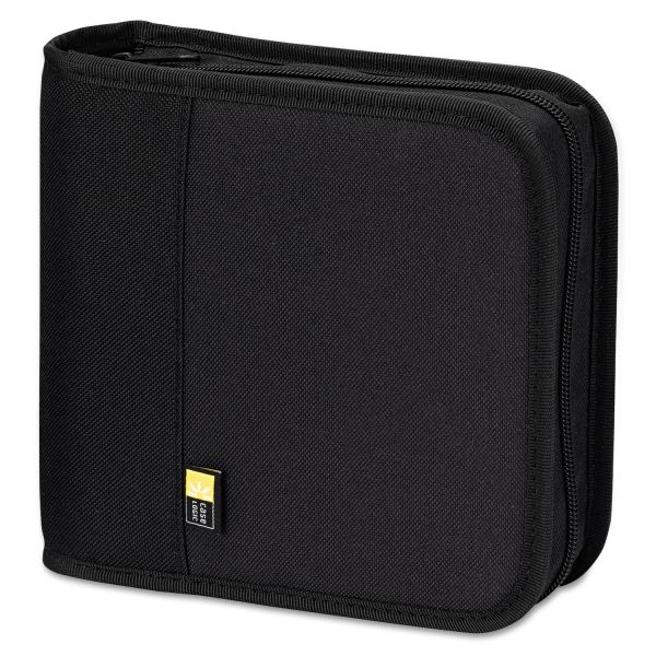 Case Logic CD/DVD Expandable Binder, Holds 24 Discs, Black