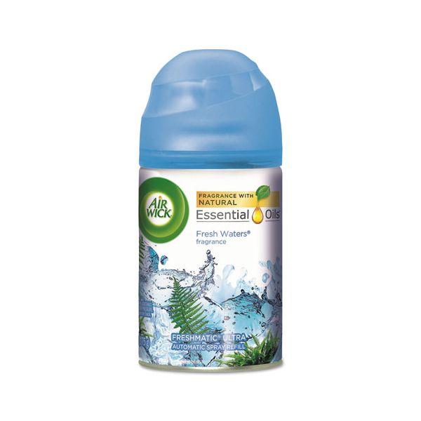 Air Wick Freshmatic Ultra Automatic Spray Refill, Fresh Waters, Aerosol 6.17 oz, 6/Carton