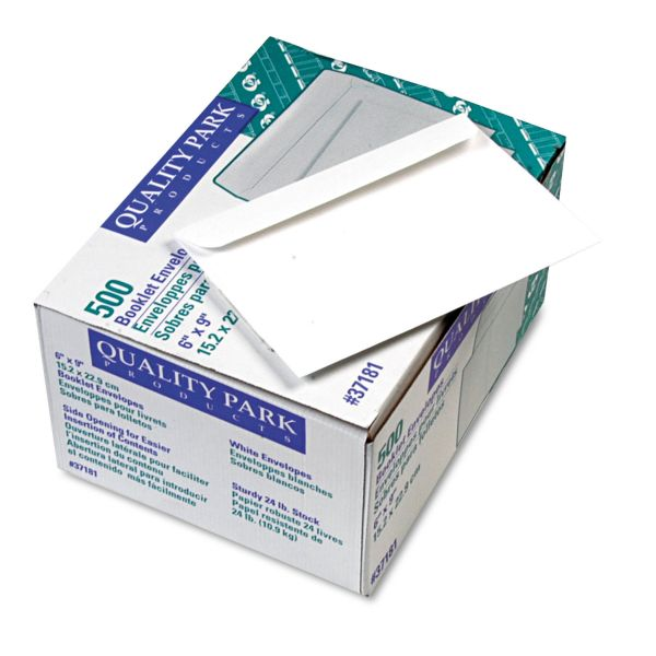 Quality Park Open Side Booklet Envelope, #55, 6 x 9, White, 500/Box