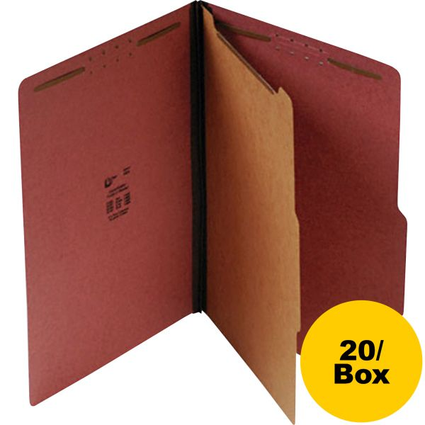 SJ Paper 1-Divider Pressboard Classification Folders