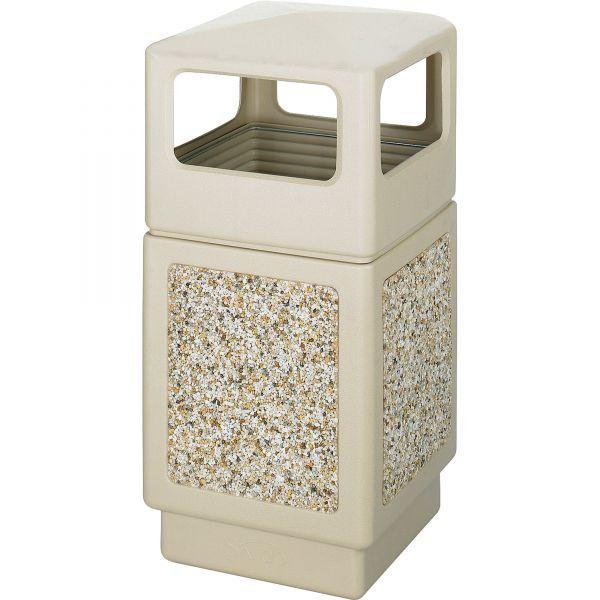 Safco Canmeleon Aggregate 38 Gallon Trash Can