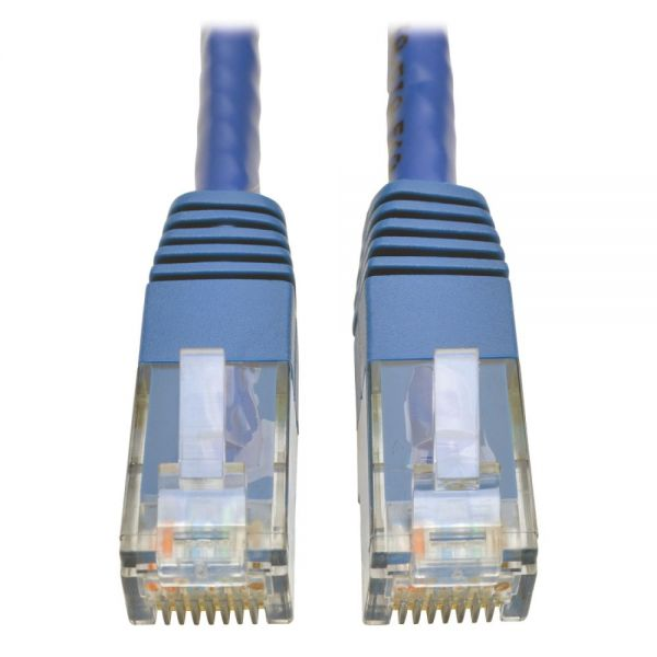 Tripp Lite Cat6 Gigabit Molded Patch Cable (RJ45 M/M), Blue, 10 ft