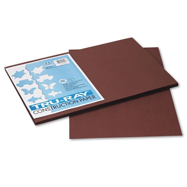 Tru-Ray Sulphite Brown Construction Paper