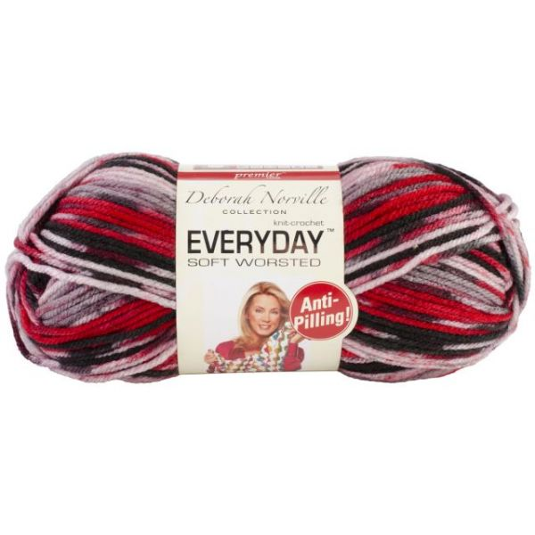Deborah Norville Collection Everyday Soft Worsted Yarn - Lava