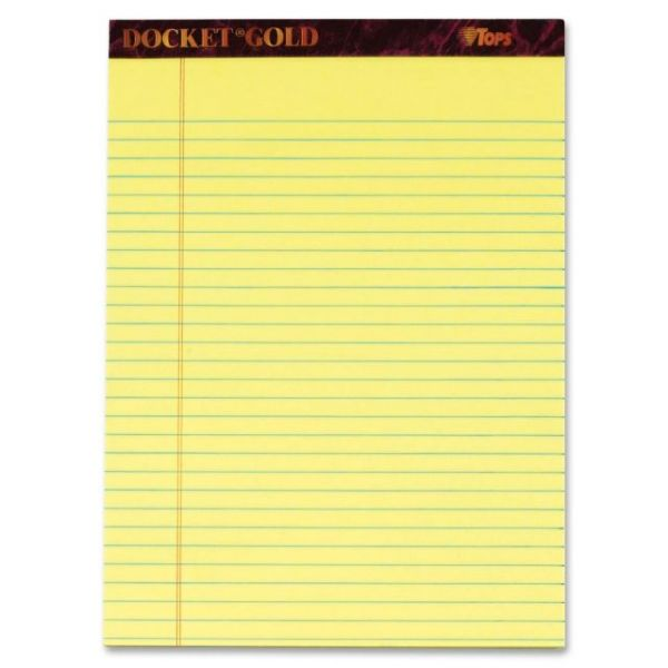 TOPS Docket Gold Letter-Size Legal Pads