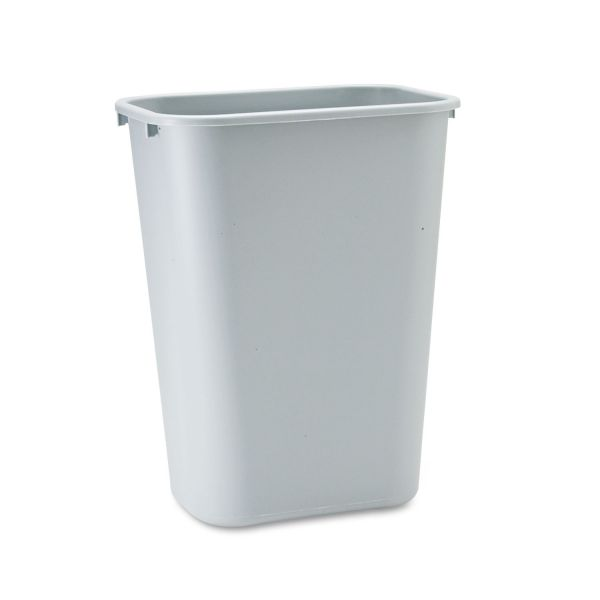 Rubbermaid Commercial Deskside Plastic Wastebasket, Rectangular, 10 1/4 gal, Gray