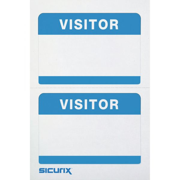 Baumgartens Self-adhesive Visitor Name Tags