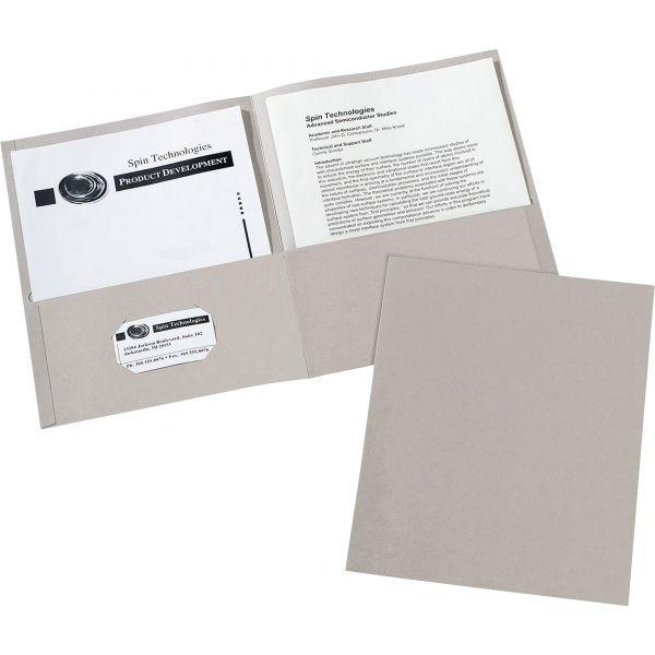 Avery Gray Two Pocket Folders