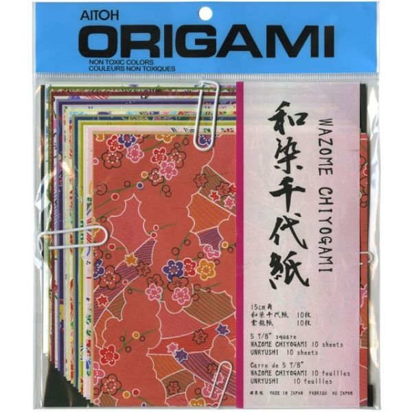 """Origami Paper 5.875""""X5.875"""" 20 Sheets"""