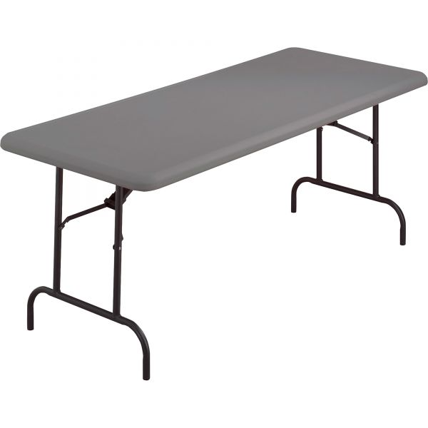Iceberg IndestrucTables Too 1200 Series Resin Folding Table, 60w x 30d x 29h, Charcoal