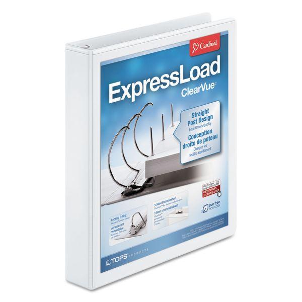 """Cardinal ExpressLoad 1 1/2"""" 3-Ring View Binder"""