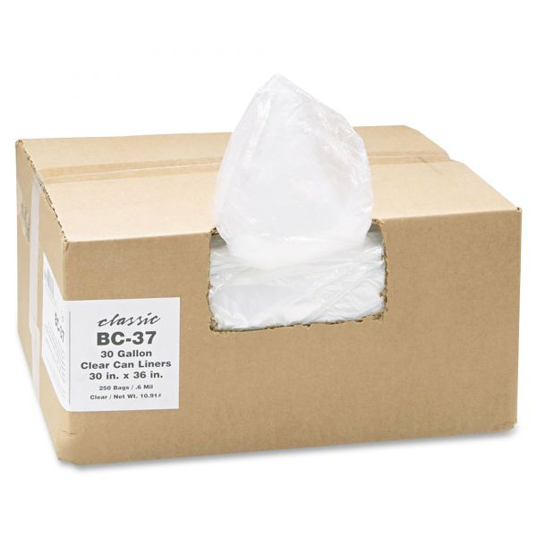 Webster Clear Linear 30 Gallon Trash Bags