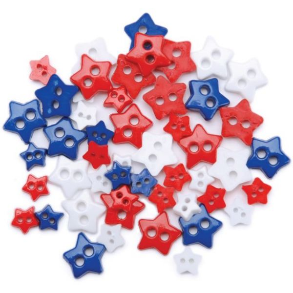 Favorite Findings Mini Shaped Buttons 49/Pkg