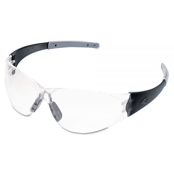 Crews CK2 Series Safety Glasses, Clear Lens, Anti-Fog