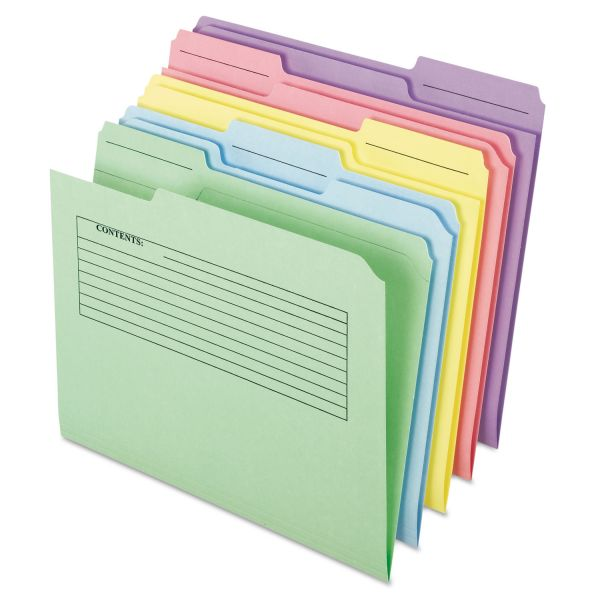 Pendaflex Printed Notes Colored File Folders