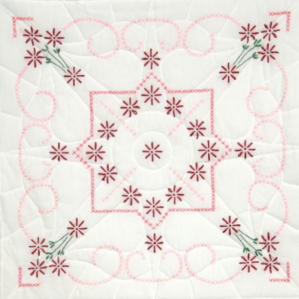 "Stamped Quilt Blocks 18""X18"" 6/Pkg"