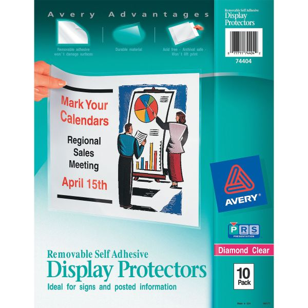 Avery Top-Load Display Sheet Protectors, Letter, Heavyweight, Diamond Clear, 10/Pack