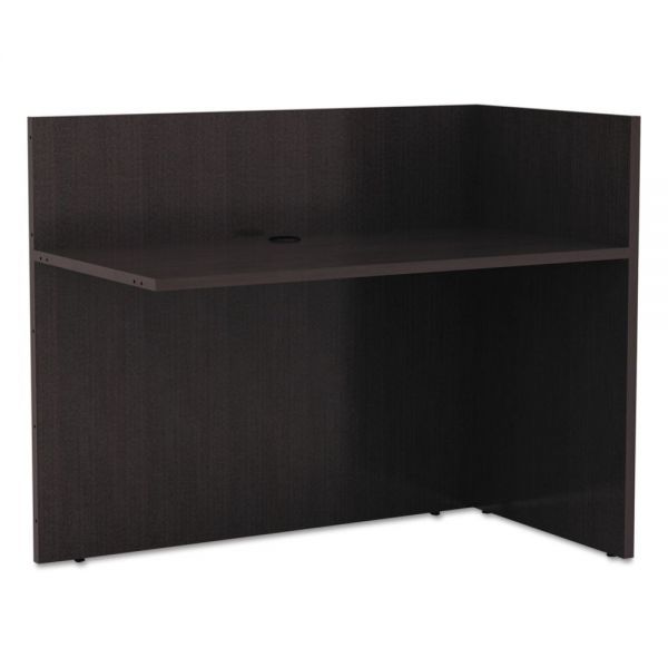 Alera Alera Valencia Reversible Reception Return, 44w x 23 5/8d x 41 1/2h, Espresso