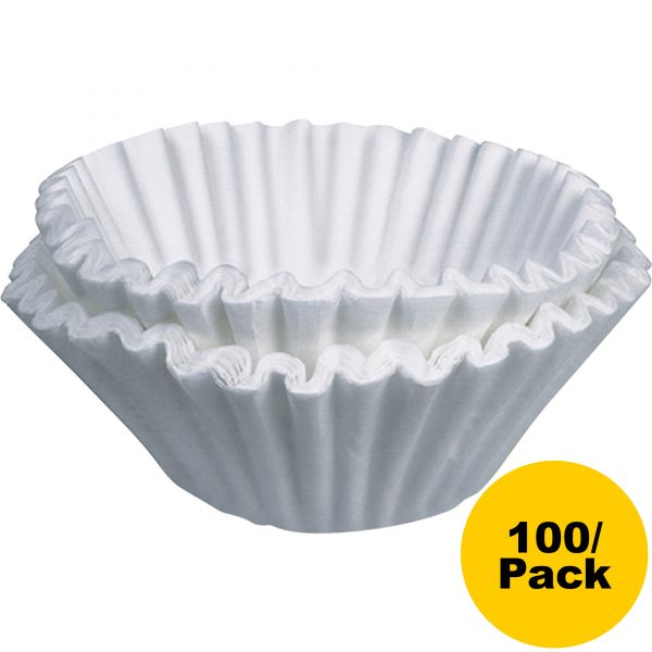 BUNN Flat Bottom Coffee Filters, 10-Cup Size, 100/Pack