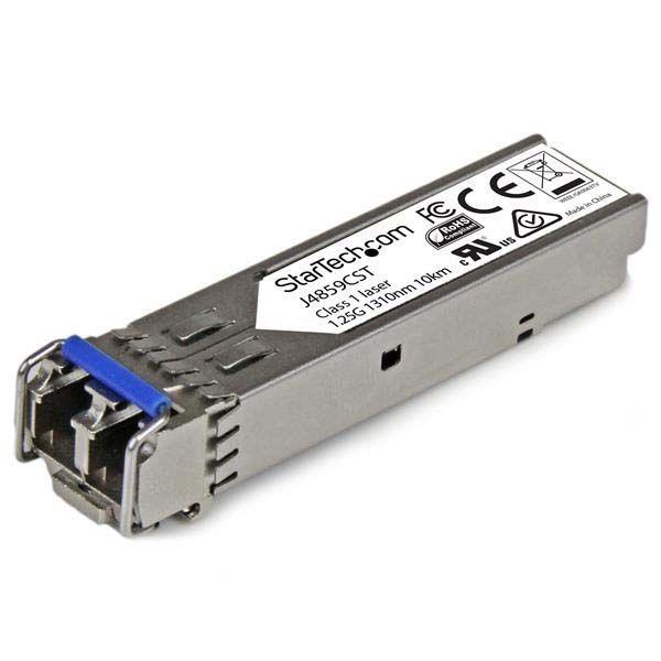 StarTech.com Gigabit Fiber SFP Transceiver Module - HP J4859C Compatible - SM/MM LC with DDM - 10km (6.2 mi.) / 550m (1804 ft.) - 1000Base-LX