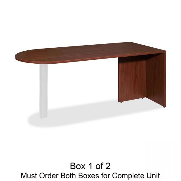 Lorell Essentials Peninsula Desk Box 1/2