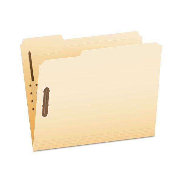 Pendaflex Fastener Folders, 2 Fasteners, 1/3 Cut Tabs, Letter, Manila, 50/Box