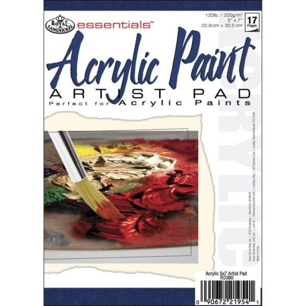 "Essentials Acrylic Artist Paper Pad 5""X7"""