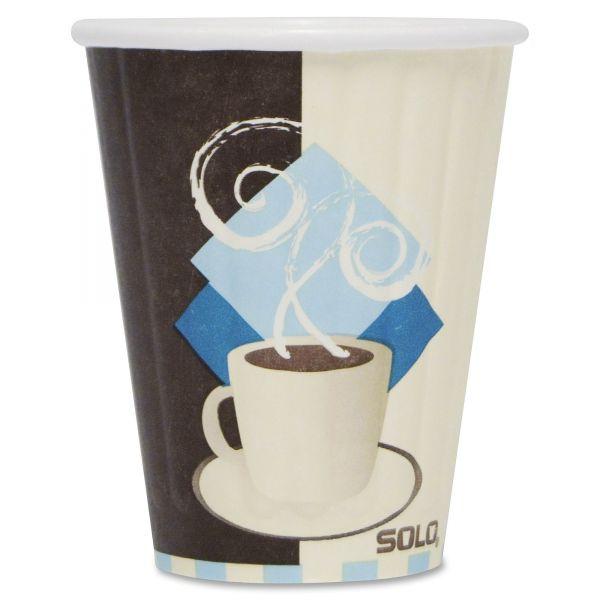 SOLO Duo Shield 8 oz Paper Coffee Cups