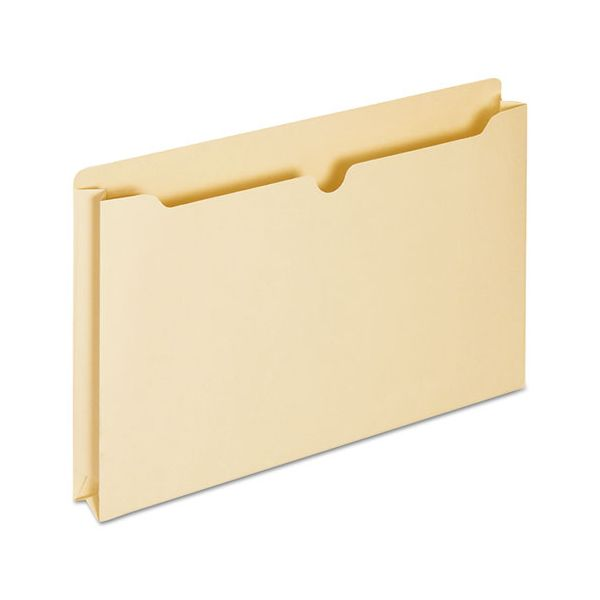 Universal Economical File Jackets with Two Inch Expansion, Legal, 11 Point Manila, 50/Box