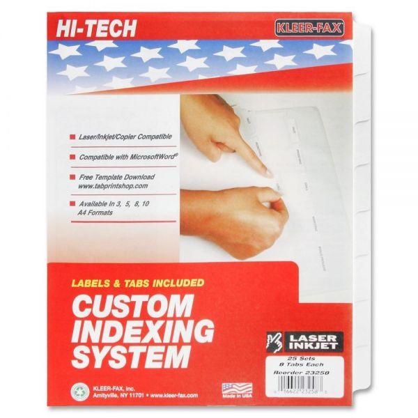 Kleer-Fax HiTech Custom Index Dividers