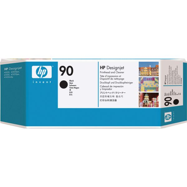 HP 90 Black Printhead & Cleaner (C5054A)