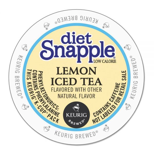 Snapple Diet Lemon Iced Tea K-Cups