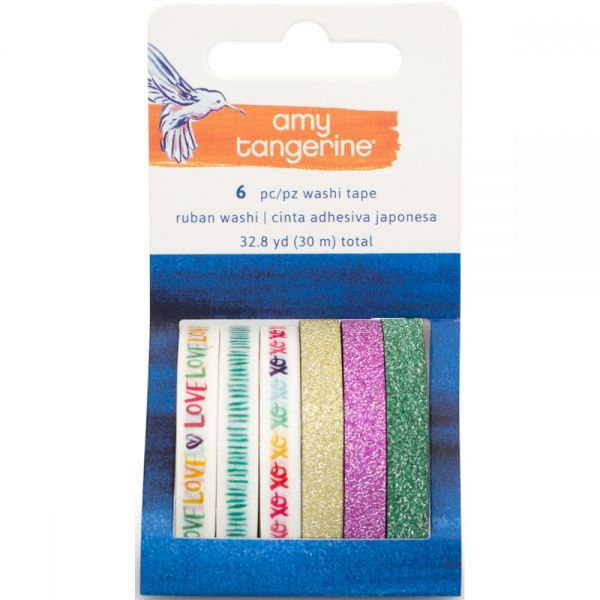 Amy Tan Better Together Washi Tape Rolls 6/Pkg