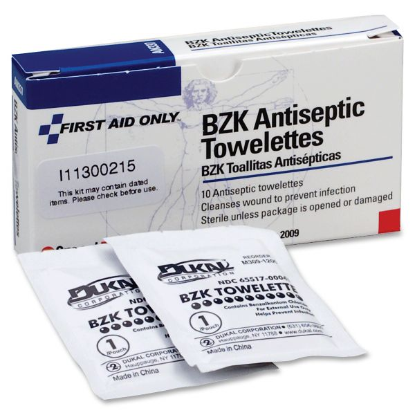 First Aid Only Antiseptic wipe refill for ansi-compliant first aid kits/cabinets, 100 wipes/pk