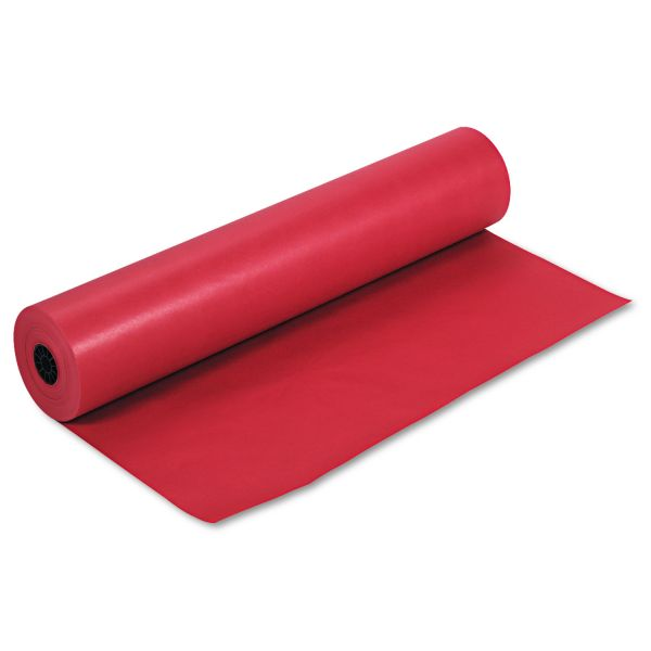"Pacon Rainbow Duo-Finish Colored Kraft Paper, 35 lbs., 36"" x 1000 ft, Scarlet"