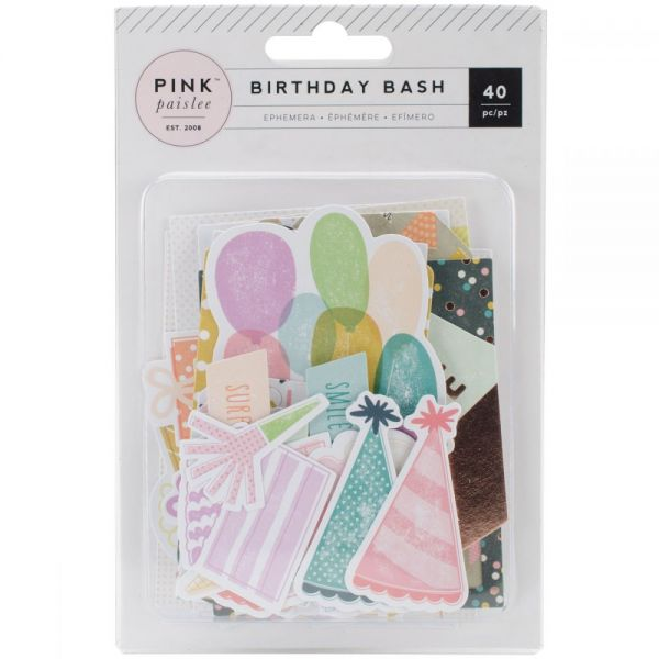 Birthday Bash Ephemera Die-Cuts 40/Pkg