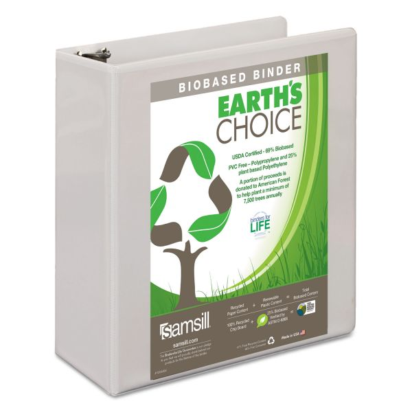 "Samsill Earth's Choice 3"" 3-Ring View Binder"
