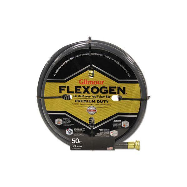 Gilmour Eight-Ply Flexogen 10 Series Garden Hose, 3/4in x 50ft, Gray