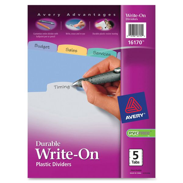 Avery Durable Write-On Tab Dividers