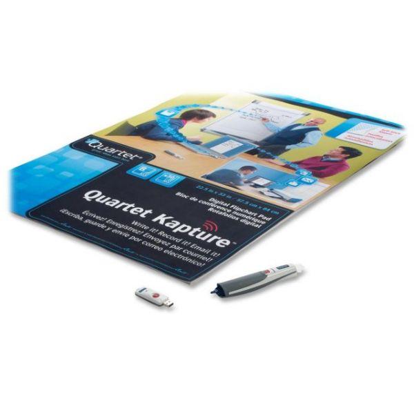 Quartet Kapture Digital Flipchart Starter Kit, Pen, Flipchart, USB Receiver
