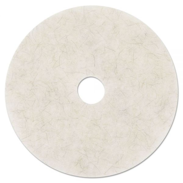 "3M Ultra High-Speed Natural Blend Floor Burnishing Pads 3300, 20"" Dia., White, 5/CT"